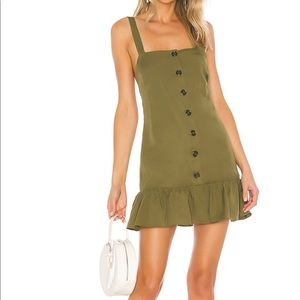 Lovers + Friends Chase Mini Dress in Olive Green